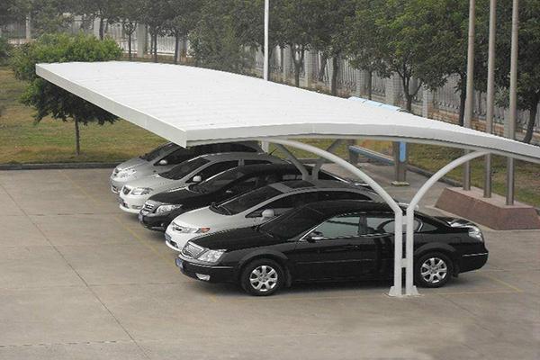 全新膜结构充电桩车棚公司