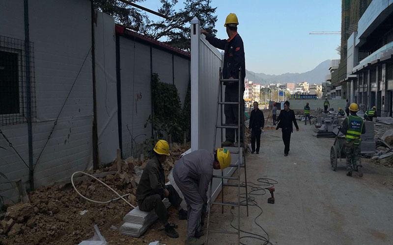 张港镇工地围挡价格/PVC围挡柱子【推荐】