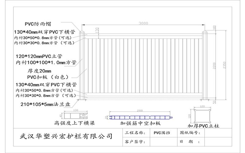 张湾工地围挡价格/PVC围挡扣板【华塑兴宏】